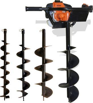 Image de Tarière thermique avec mèches 100, 150 et 200 mm