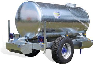 Image de Citerne à eau Galva sur châssis 6200 L avec 3 bacs 100L